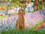 GARDEN AT GIVERNY<br>& Standard Apricot Poodle