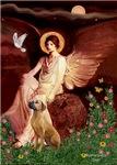 SEATED ANGEL<br>& Rhodesian Ridgeback