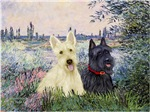 BY THE SEINE<br>& Two Scottish Terriers