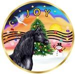 "Black Arabian Horse in<br>""Christmas Music #2"""