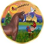 """Brown Arabian Horse in<br>""""Christmas Fantsay"""""""