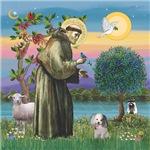 St. Francis Poodle (parti)