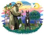 St. Francis #2 &<br>Black Great Dane