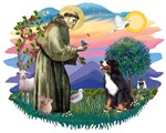 St. Francis #2 &<br> Bernese Mountain Dog