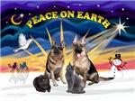 Christmas Sunrise<br>2 Shepherds, 2 Cats