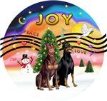 CHRISTMAS MUSIC #2<br>Two Doberman Pinschers