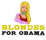 Blondes for Obama Tshirts and Stickers
