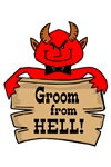 Groom from Hell t-shirts, tees