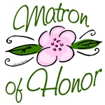 Pink Flower Matron of Honor T-shirts, Gifts