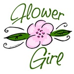 Pink Flower Girl Tee Shirts and Gifts