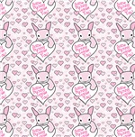 Pink Bunny Pink Hearts Bedding and Bath Decor