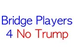 Bridge Players 4 No Trump plain