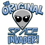 The Original Space Invader: Gray Alien T-Shirts