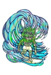 Green Man Surfing