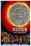 Mexico Aztec Calendar Tourism Poster
