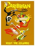 Caribbean Travel and Tourism Vintage Poster