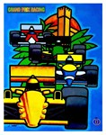 Grand Prix Auto Racing Print