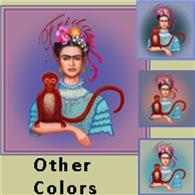 Frida with Red Monkey