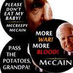 Anti McCain Buttons