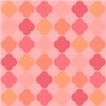 Peach Colored Qua-Trefoil