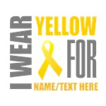 Yellow Awareness Ribbon Customized