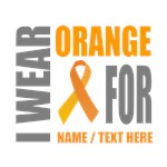 Orange Awareness Ribbon Customized