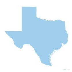Sky Blue Texas Outline