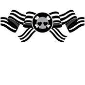 Over 30 Lady Austere Skull Ribbon Shirts