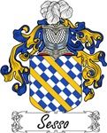Sesso Family Crest, Coat of Arms