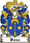 Sass Family Crest, Coat of Arms