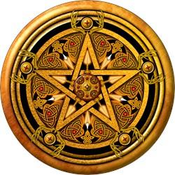 Gold Pagan Pentacle