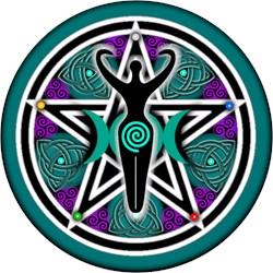 Teal Goddess Pentacle