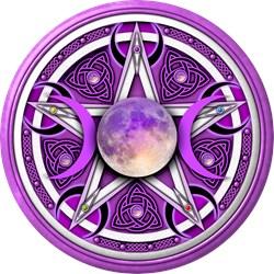 Purple Triple Goddess Pentacle