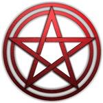 Red Metal Pagan Pentacle