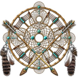 Turquoise Silver Dreamcatcher