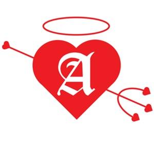 Wicked Angel Monogrammed Heart