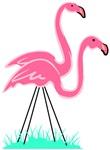 Flamingo Pair Drawing