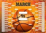 March Madness Basketball Bracket Chart