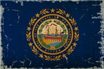 New Hampshire State Flag VINTAGE