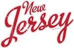 New Jersey Script Font Crimson VINTAGE