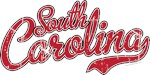 South Carolina Script VINTAGE