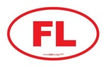 Florida FL Euro Oval RED