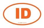Idaho ID Euro Oval ORANGE