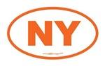 New York NY Euro Oval ORANGE