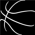 Basketball Ball Lines White
