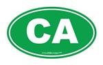 California CA Euro Oval GREEN