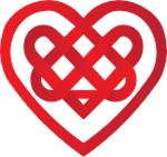 Valentine's Celtic Know Red Heart