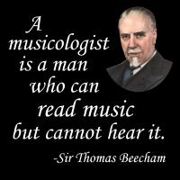 Beecham on Musicologists