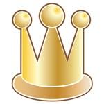 Cute royal crown in GOLD