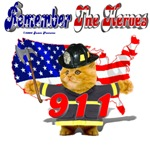Remember the Heroes Firemand Kitty
